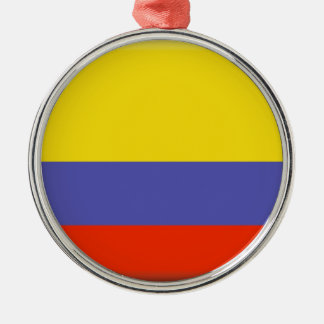 Colombia Silver-Colored Round Decoration