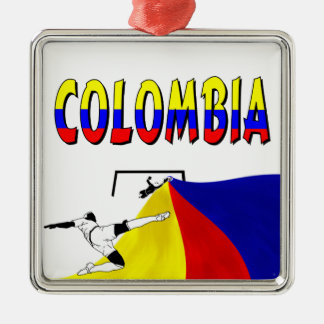 Colombia Silver-Colored Square Decoration