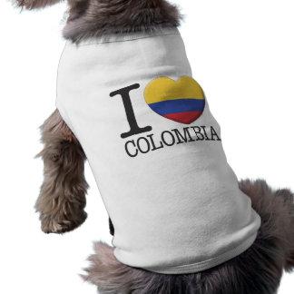 Colombia Sleeveless Dog Shirt