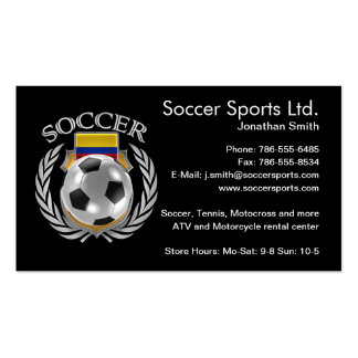 Colombia Soccer 2016 Fan Gear Pack Of Standard Business Cards