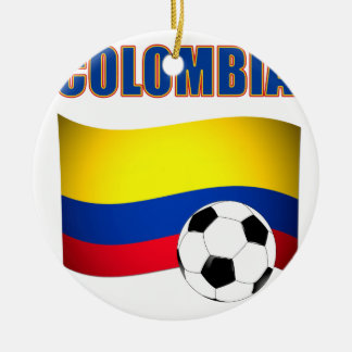 Colombia Soccer  5116 Round Ceramic Decoration