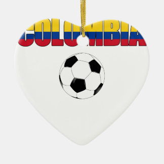 Colombia Soccer  5655 Ceramic Heart Decoration