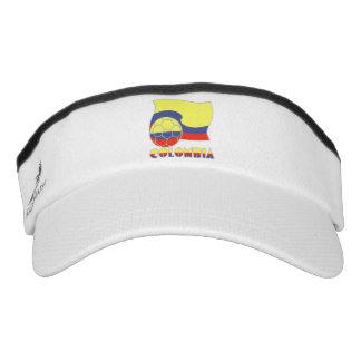 Colombia Soccer Ball and Flag Visor