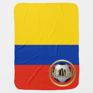 Colombia Soccer Ball Baby Blanket