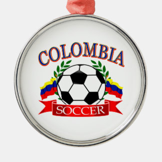 Colombia soccer ball designs Silver-Colored round decoration
