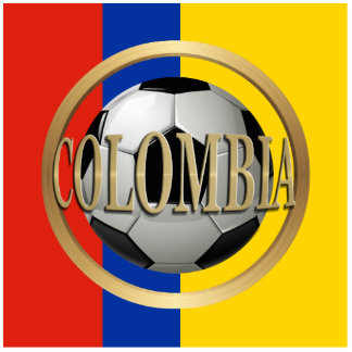 Colombia Soccer Ball Photo Cutout