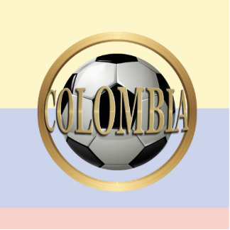 Colombia Soccer Ball Standing Photo Sculpture
