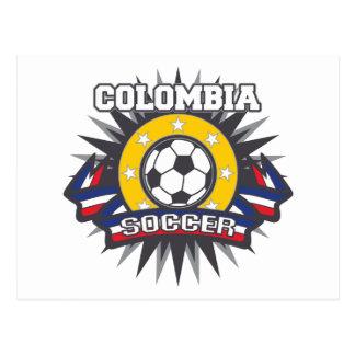 Colombia Soccer Burst Postcard