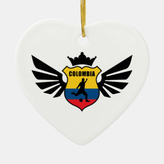 Colombia soccer christmas tree ornament