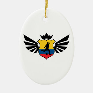 Colombia soccer christmas ornament