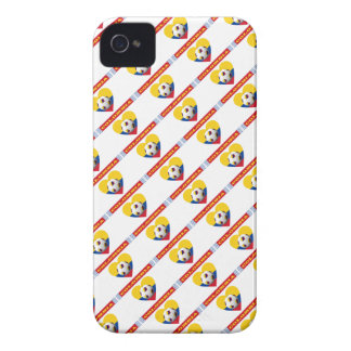 COLOMBIA SOCCER heart with national flag 2014 Case-Mate iPhone 4 Case