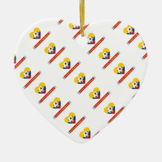 COLOMBIA SOCCER heart with national flag 2014 Ceramic Heart Decoration