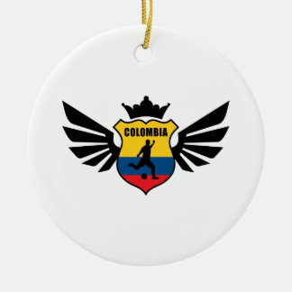 Colombia soccer round ceramic decoration