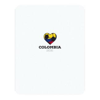 Colombia Soccer Shirt 2016 11 Cm X 14 Cm Invitation Card