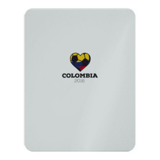Colombia Soccer Shirt 2016 11 Cm X 14 Cm Invitation Card