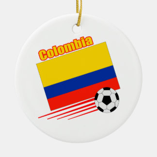 Colombia Soccer Team Round Ceramic Decoration