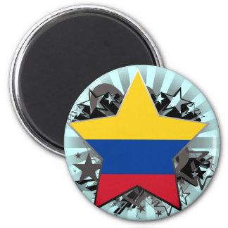 Colombia Star 6 Cm Round Magnet