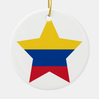 Colombia Star Round Ceramic Decoration