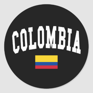 Colombia Style Classic Round Sticker