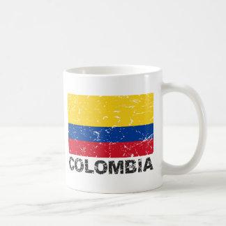 Colombia Vintage Flag Coffee Mug