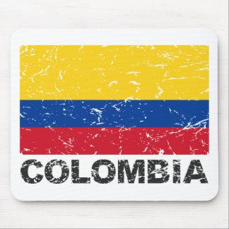 Colombia Vintage Flag Mouse Mat