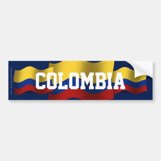 Colombia Waving Flag Bumper Stickers