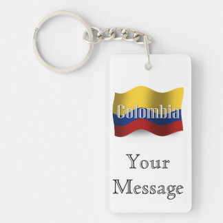 Colombia Waving Flag Key Ring