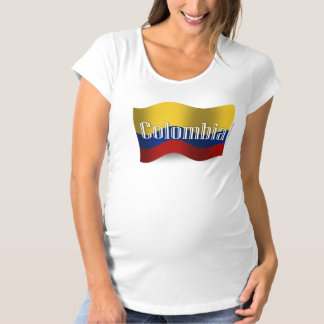 Colombia Waving Flag Maternity T-Shirt