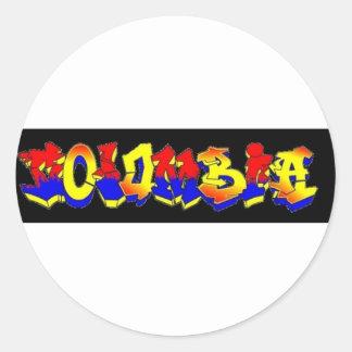 ColombiaGraffiti Classic Round Sticker