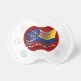 Colombian-American Waving Flag Baby Pacifiers