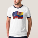 Colombian-American Waving Flag T Shirts
