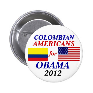 Colombian Americans for Obama 2012 button