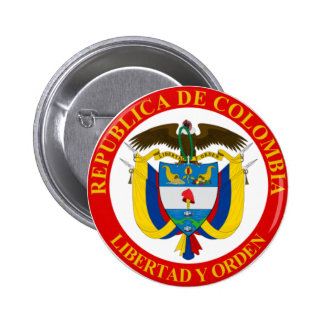 Colombian Coat of Arms Button