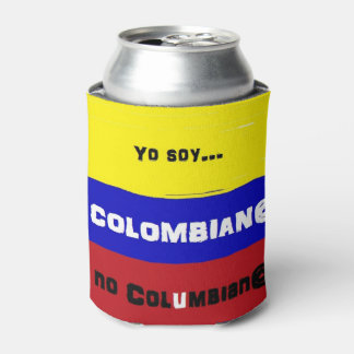 Colombian flag can cooler