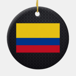 Colombian flag round ceramic decoration