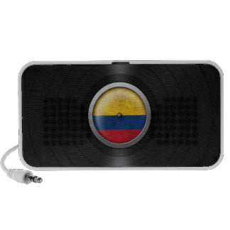 Colombian Flag Vinyl Record Album Graphic Notebook Speaker