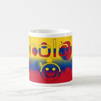 Colombian Gifts : Hello / Hola + Smiley Face Basic White Mug