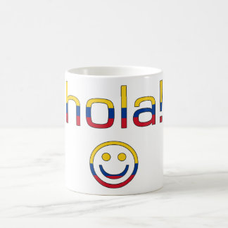 Colombian Gifts : Hello / Hola + Smiley Face Coffee Mug