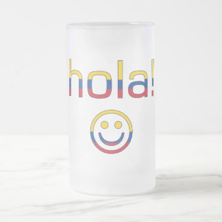 Colombian Gifts : Hello / Hola + Smiley Face Mugs