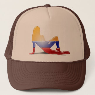 Colombian Girl Silhouette Flag Trucker Hat