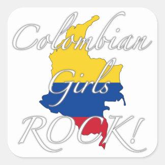Colombian Girls Rock! Square Sticker