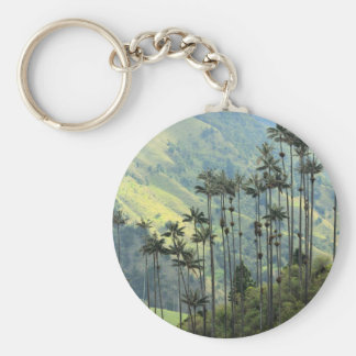 Colombian wax palm trees in the Cocora Valley Key Chains
