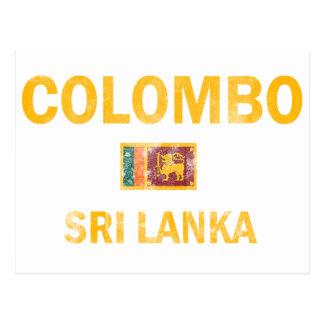 Colombo Sri Lanka Designs Postcard
