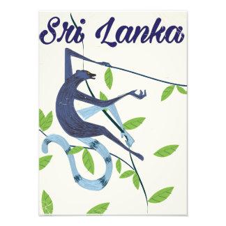Colombo Sri Lanka vintage style travel poster