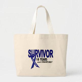 Colon Cancer 18 Year Survivor Jumbo Tote Bag