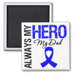 Colon Cancer Always My Hero My Dad Square Magnet