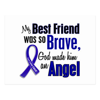 Colon Cancer ANGEL 1 Best Friend (Male) Postcard