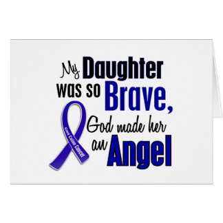 Colon Cancer ANGEL 1 Daughter Greeting Card