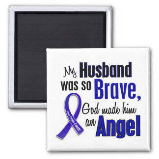 Colon Cancer ANGEL 1 Husband Magnet