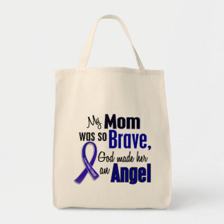 Colon Cancer ANGEL 1 Mom Grocery Tote Bag